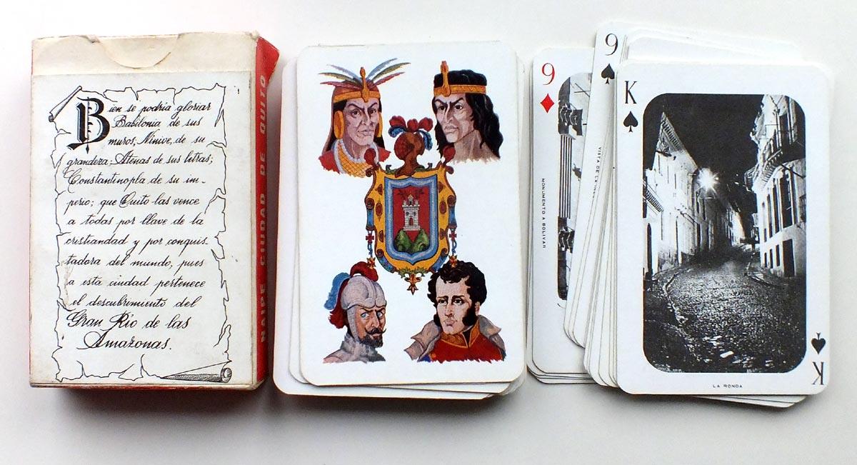 Naipe Ciudad de Quito published by Grijalva y Compañia, Ecuador.