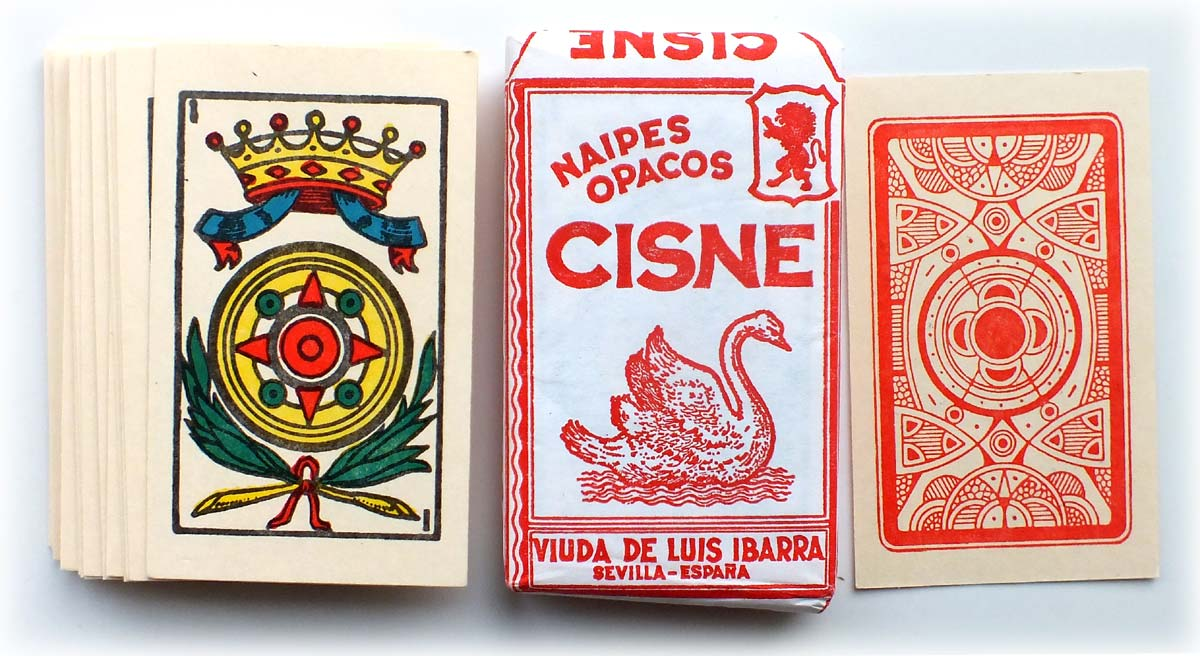 "Naipes opacos ""Cisne"" manufactured in El Salvador by a local printer imitating Spanish cards, c.2002"