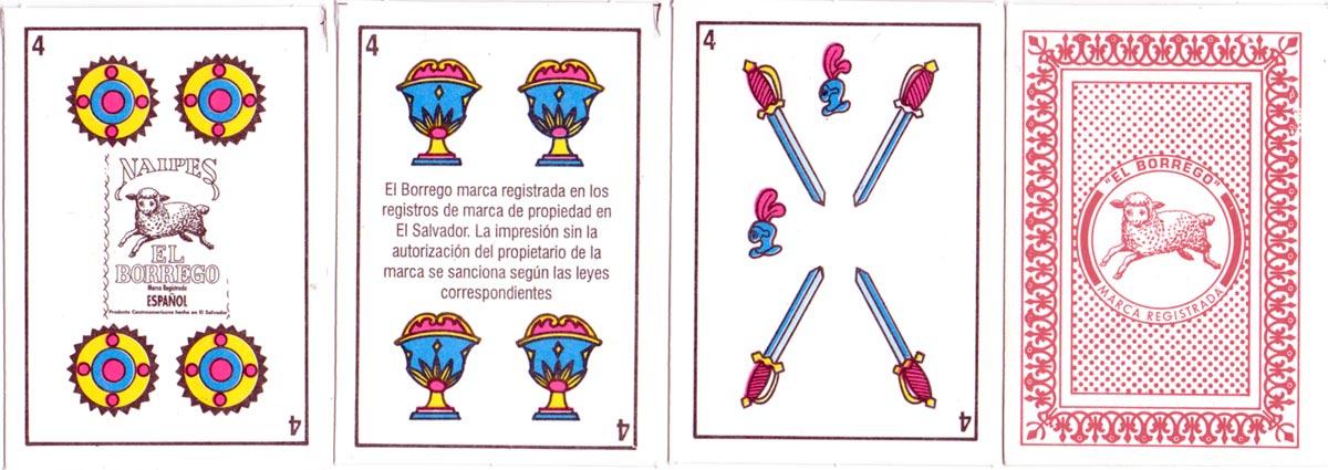 Naipes 'El Borrego' manufactured in El Salvador, c.2002