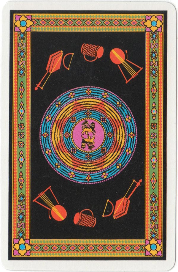 Ethiopian Air Lines playing cards designed by Melles Habtezghi, c.1969