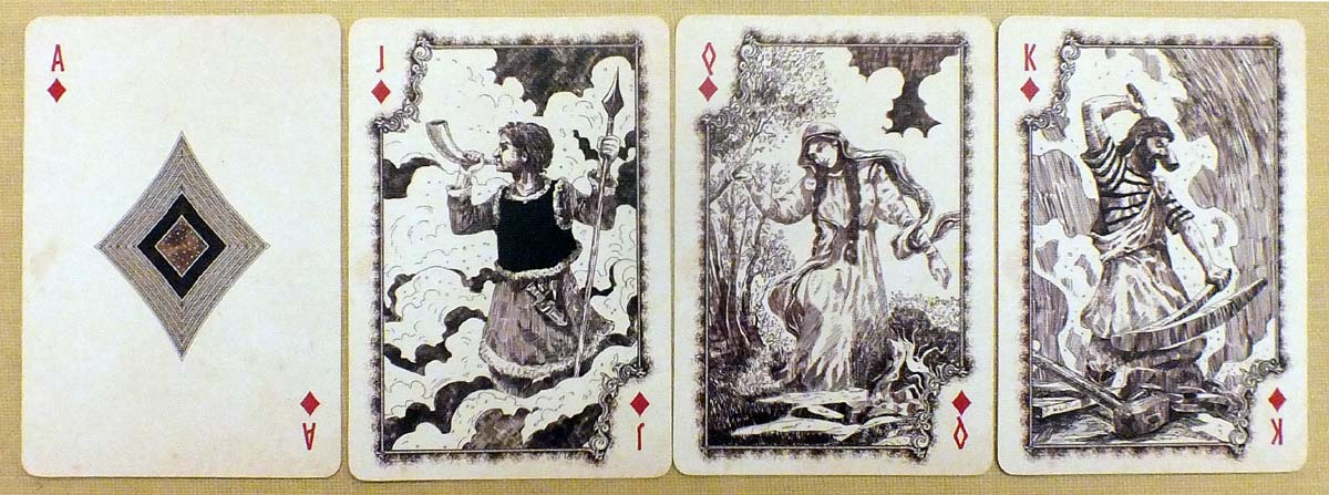 Kalevala playing cards deck by Sunish Chabba, 2018