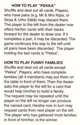 Pekka-Peli card game rules, Finland