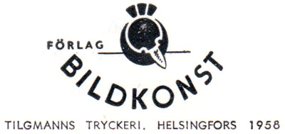 Published by Forlag Bildkonst, 1958