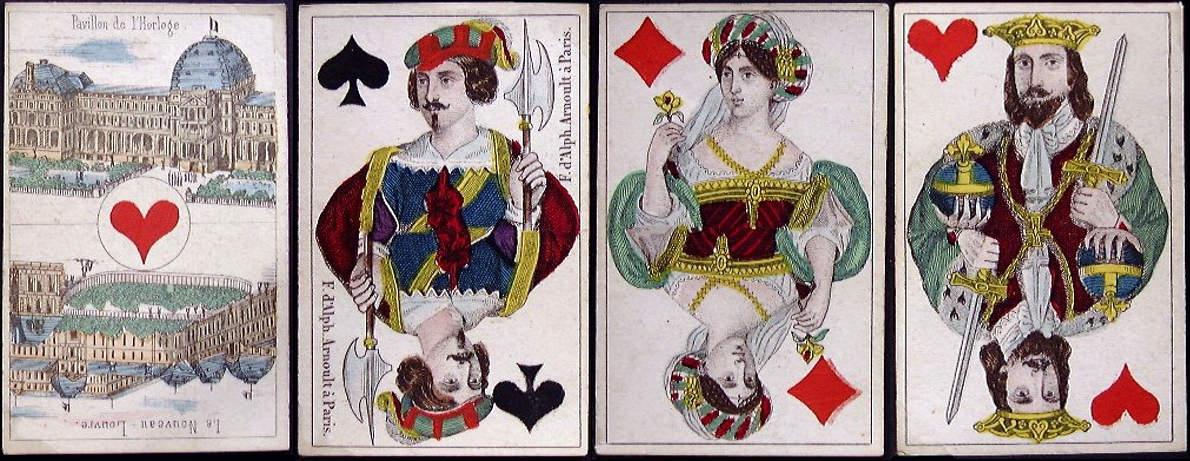 Cards by F. d'Alphonse Arnoult, c.1860