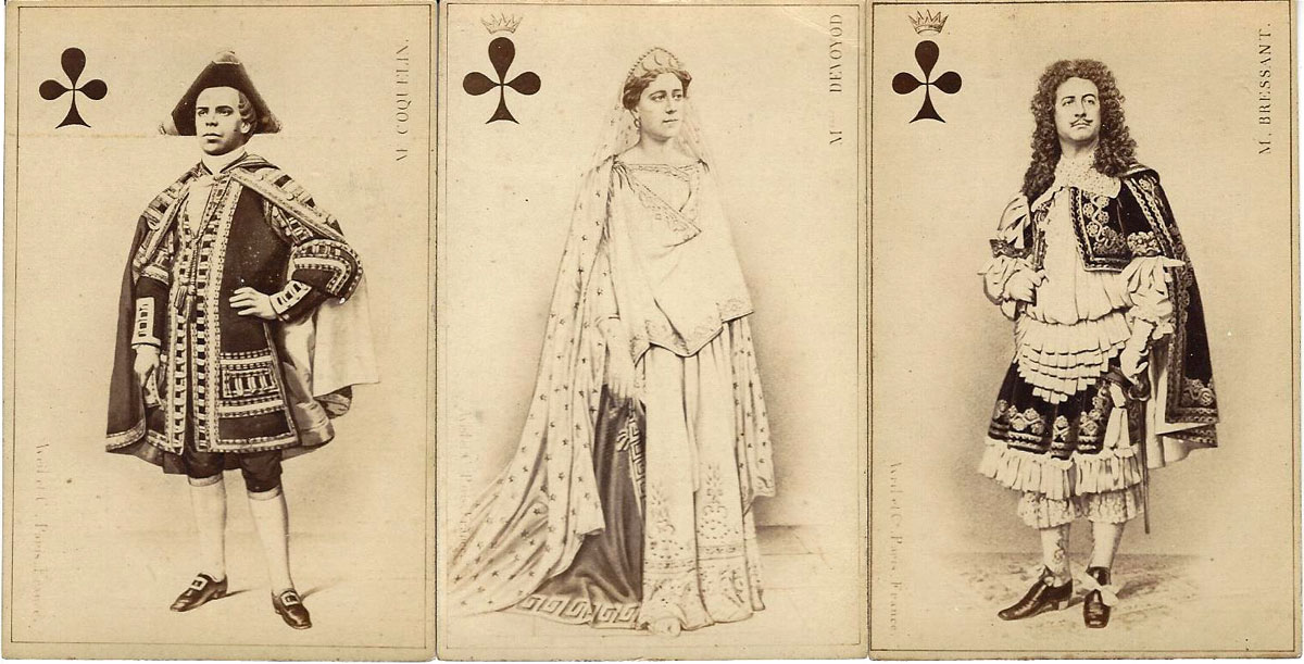 Parisian Actors and Opera Singers deck printed by Avril et Cie, Paris, c.1865