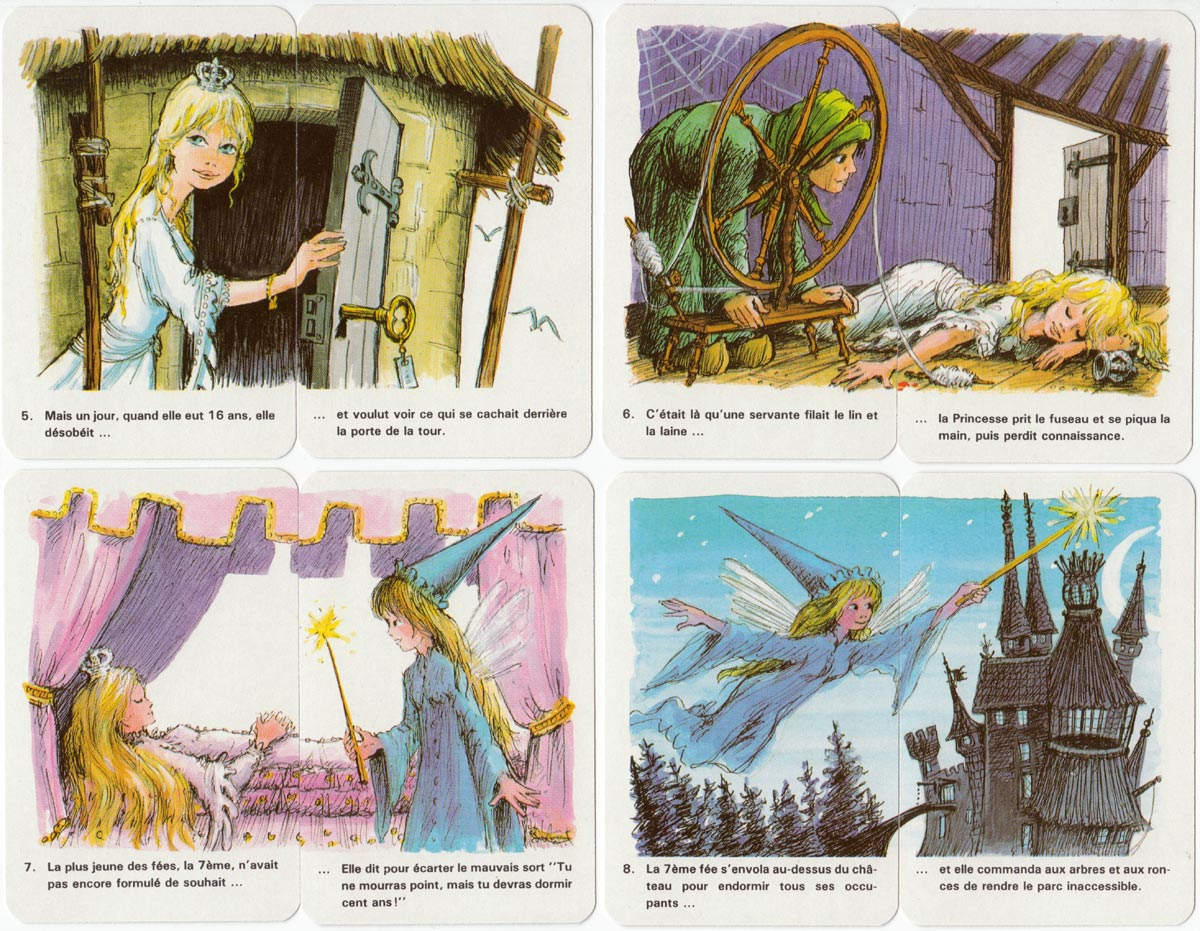 Sleeping Beauty card game published in France, c.1980s