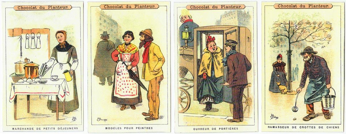 Chocolat du Planteur cards (reproduction) by artist Louis Bourgeois-Borgex, c.1900