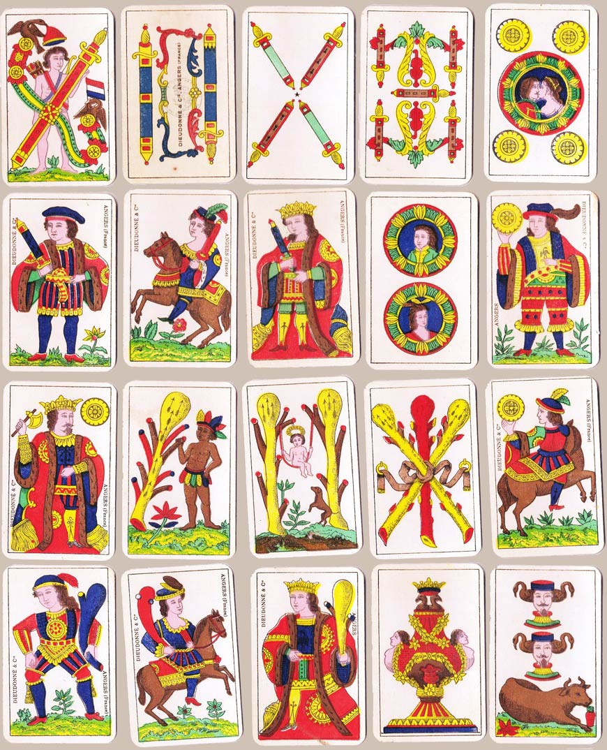 Aluette playing cards by Dieudonné & Cie