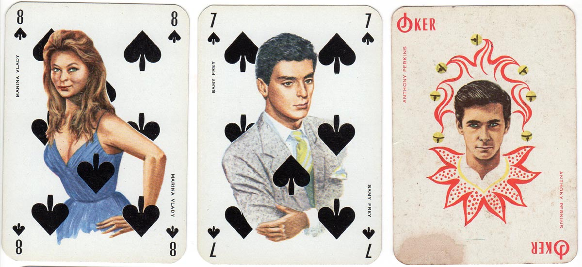 """Filmstars"" deck published by Publistar, printed by La Ducale (France), 1962"