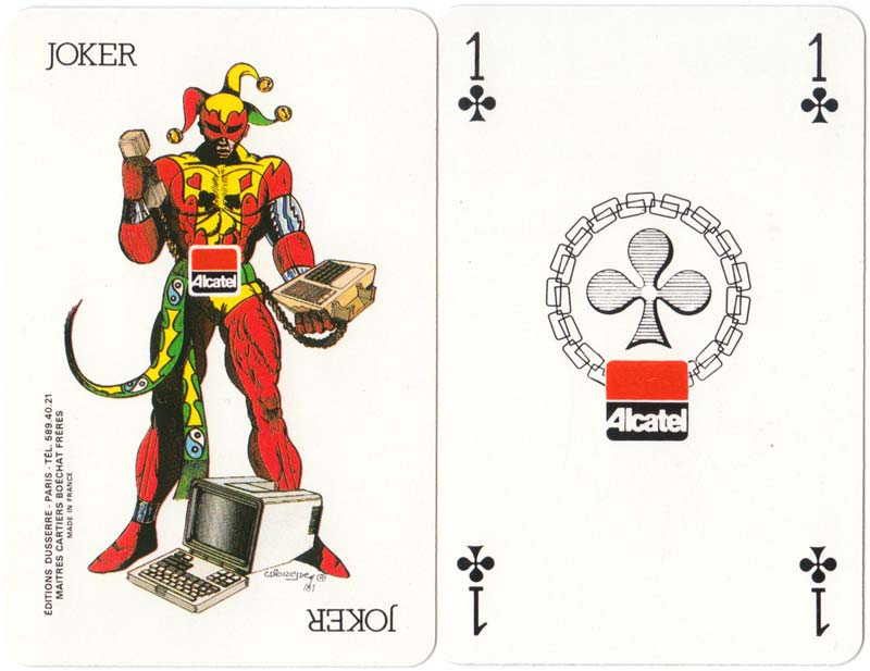 Alcatel playing cards published by Éditions Dusserre, c.1970s