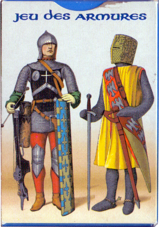 drawings of suits of armour and costumes from time of Charlemagne to Louis XIII