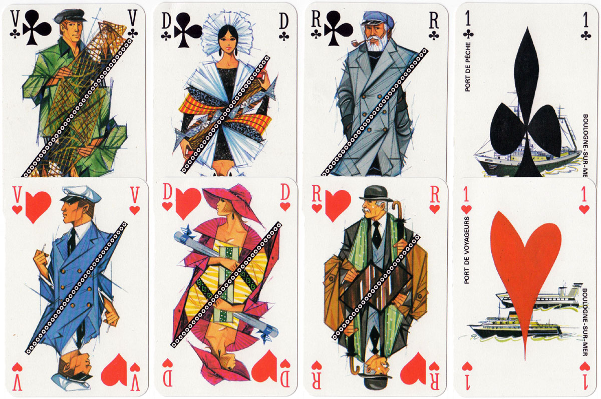 Boulogne-sur-Mer Chamber of Commerce & Industry playing cards illustrated by James Hodges, c.1974