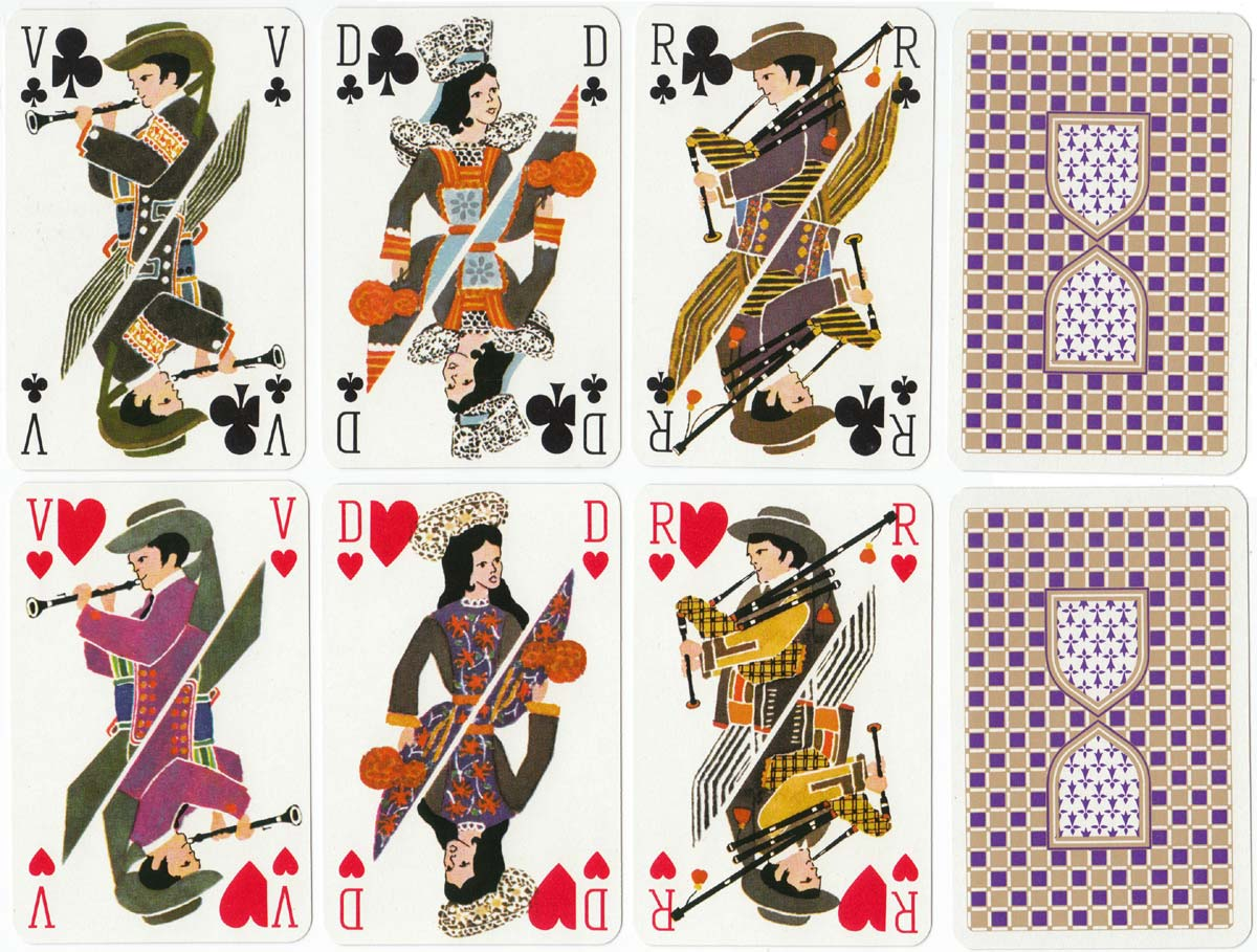 Bretagne (Brittany) playing cards, Grimaud, c.1970