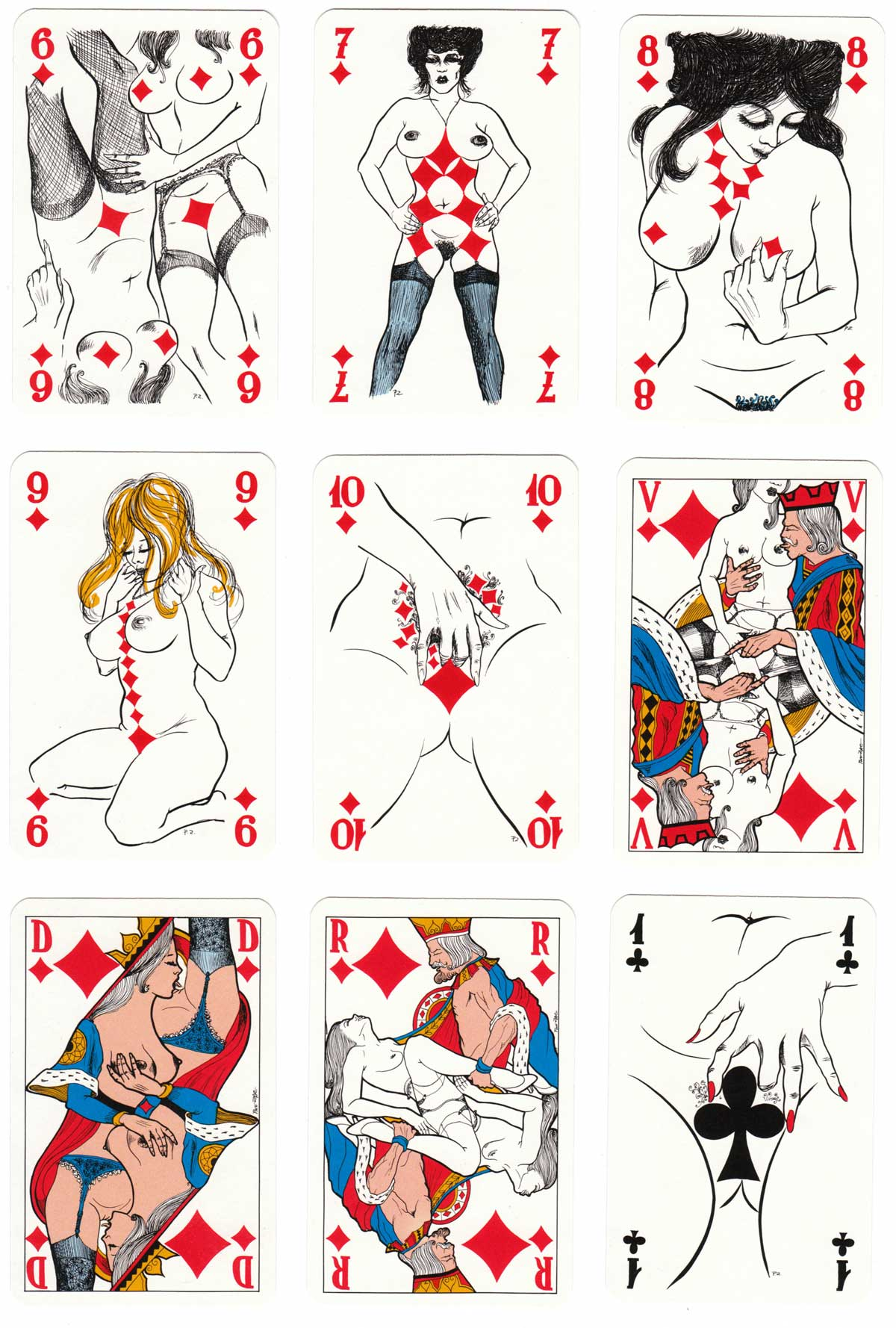 Eroticartes with drawings by Pino Zac, 1983