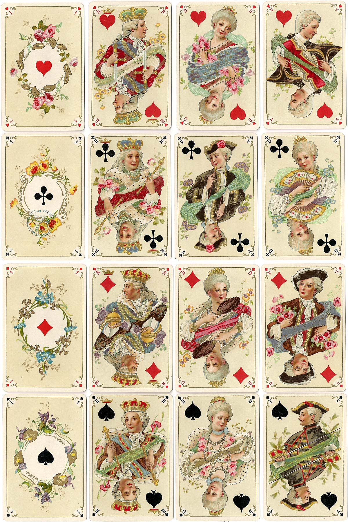 Jeu Louis XV, published by B.P. Grimaud, Paris, c.1895