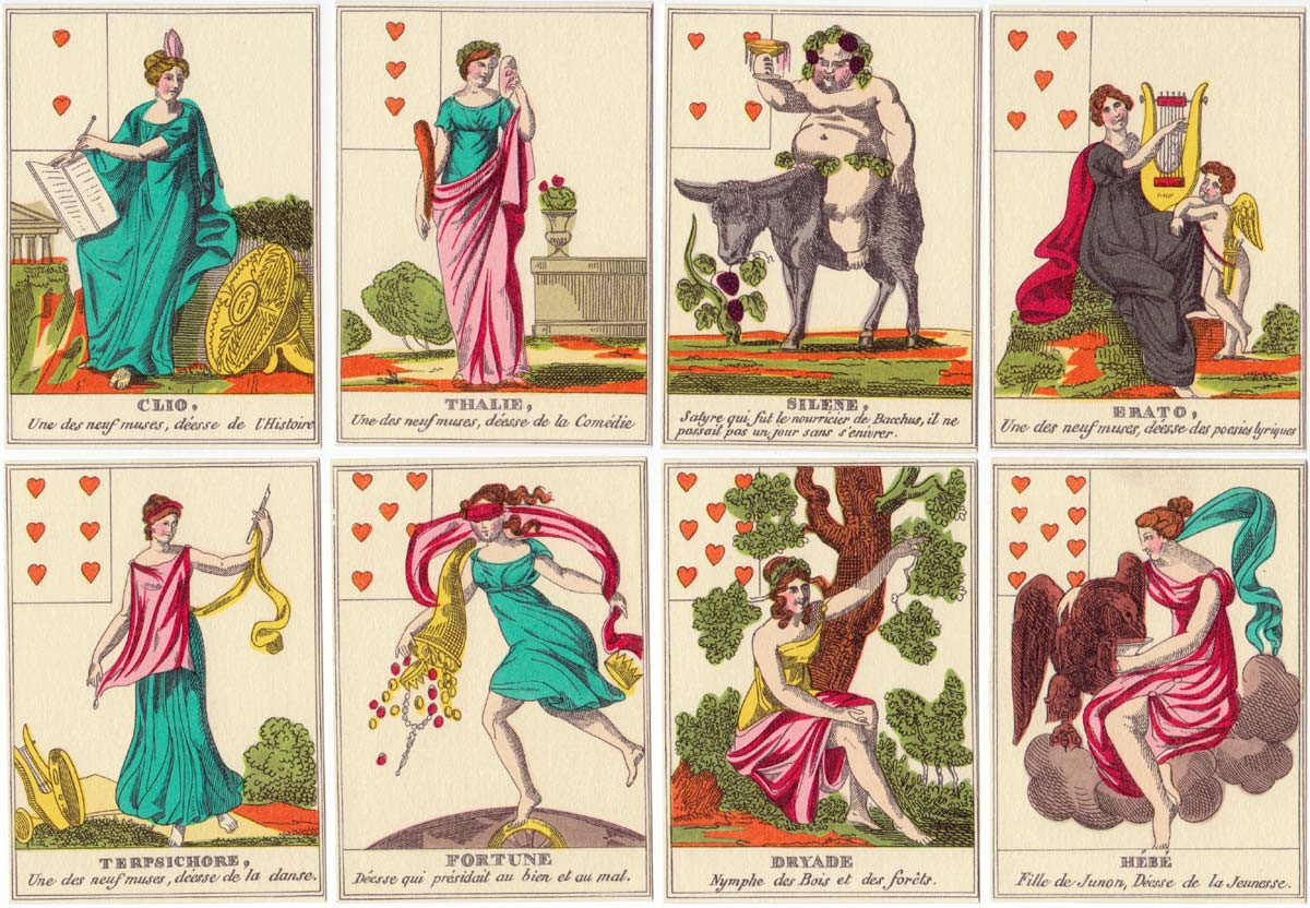 Jeu Mythologique (facsimile) 18th century pack by J M Simon, 1983