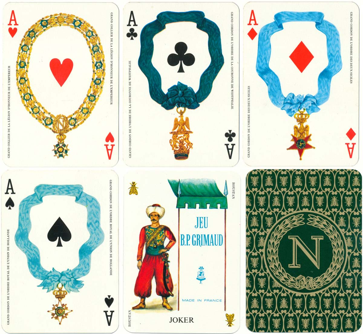 A dual-deck created by Matéja celebrating the bicentenary of the birth of Napoleon (1769-1969)
