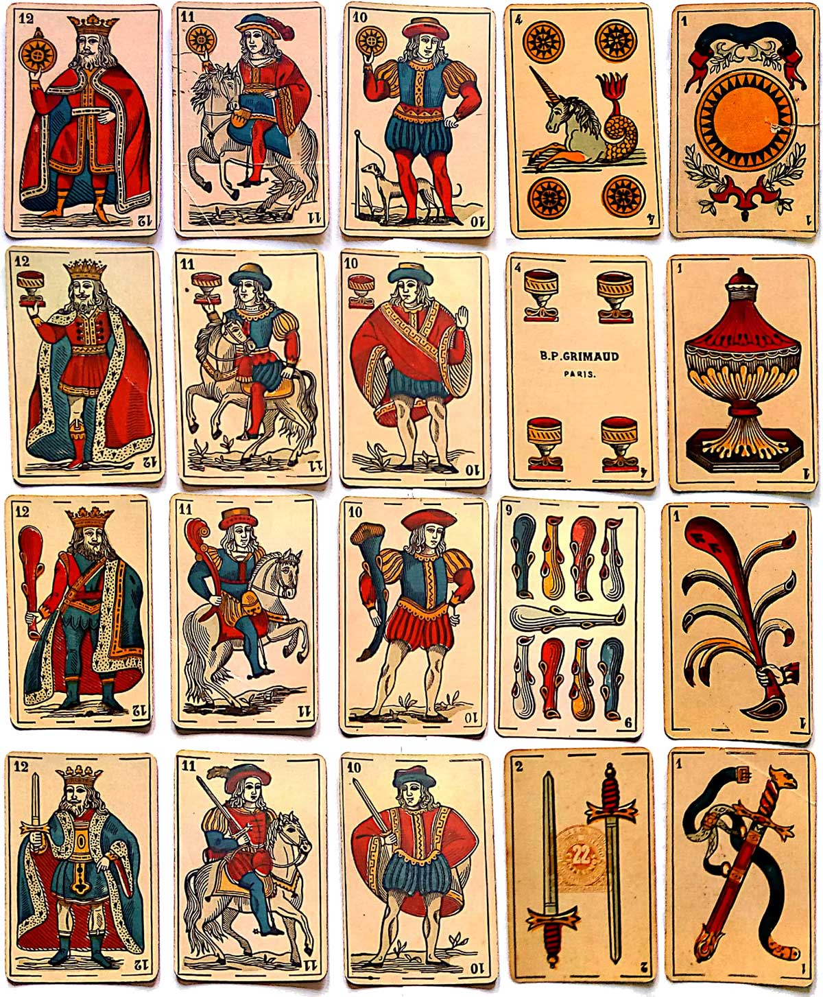 Parisian style Spanish deck by Grimaud for export to Uruguay