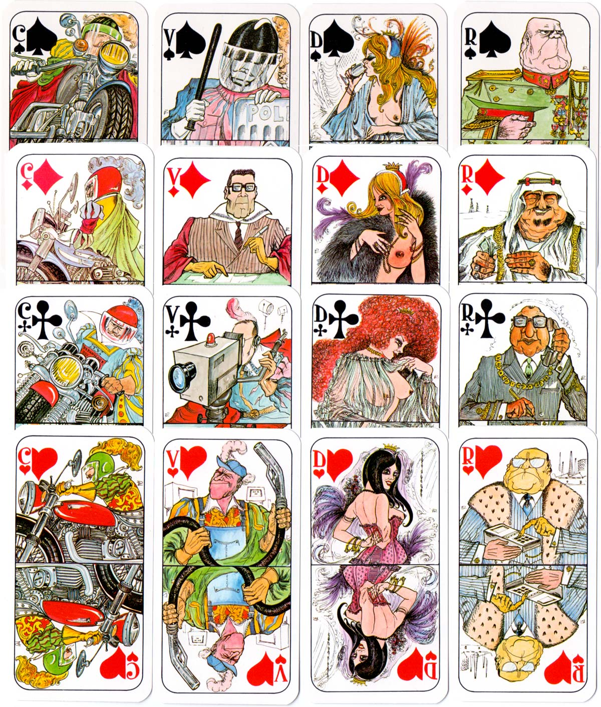 Tarot de l'An 2000 designed by Pino Zac, 1981