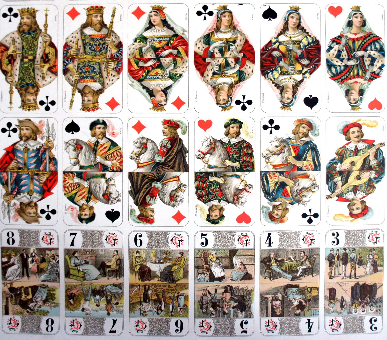 French playing cards the world of playing cards bourgeois tarot biocorpaavc Choice Image
