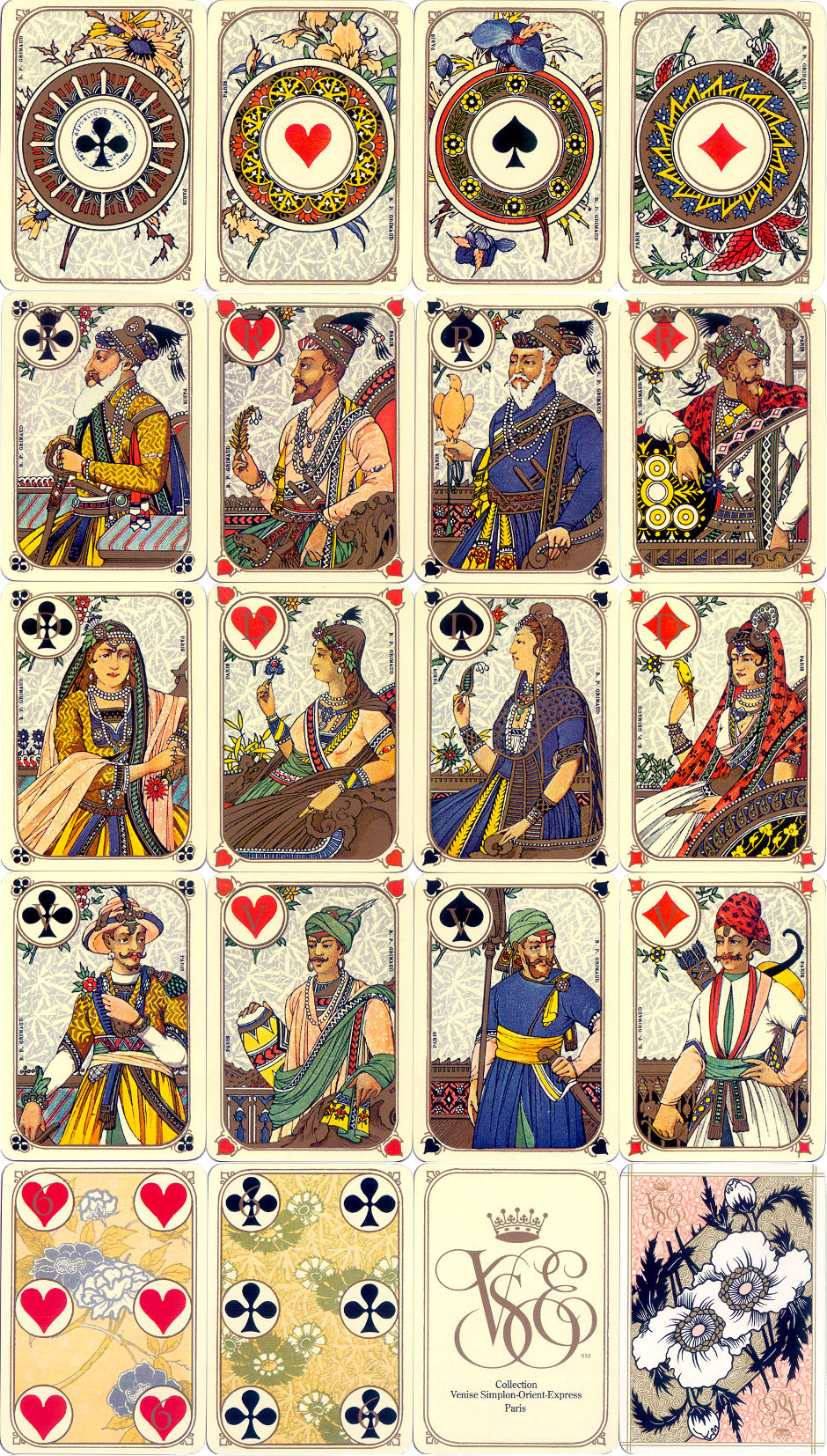 Venise-Simplon Orient Express Playing Cards produced by B.P. Grimaud, Paris