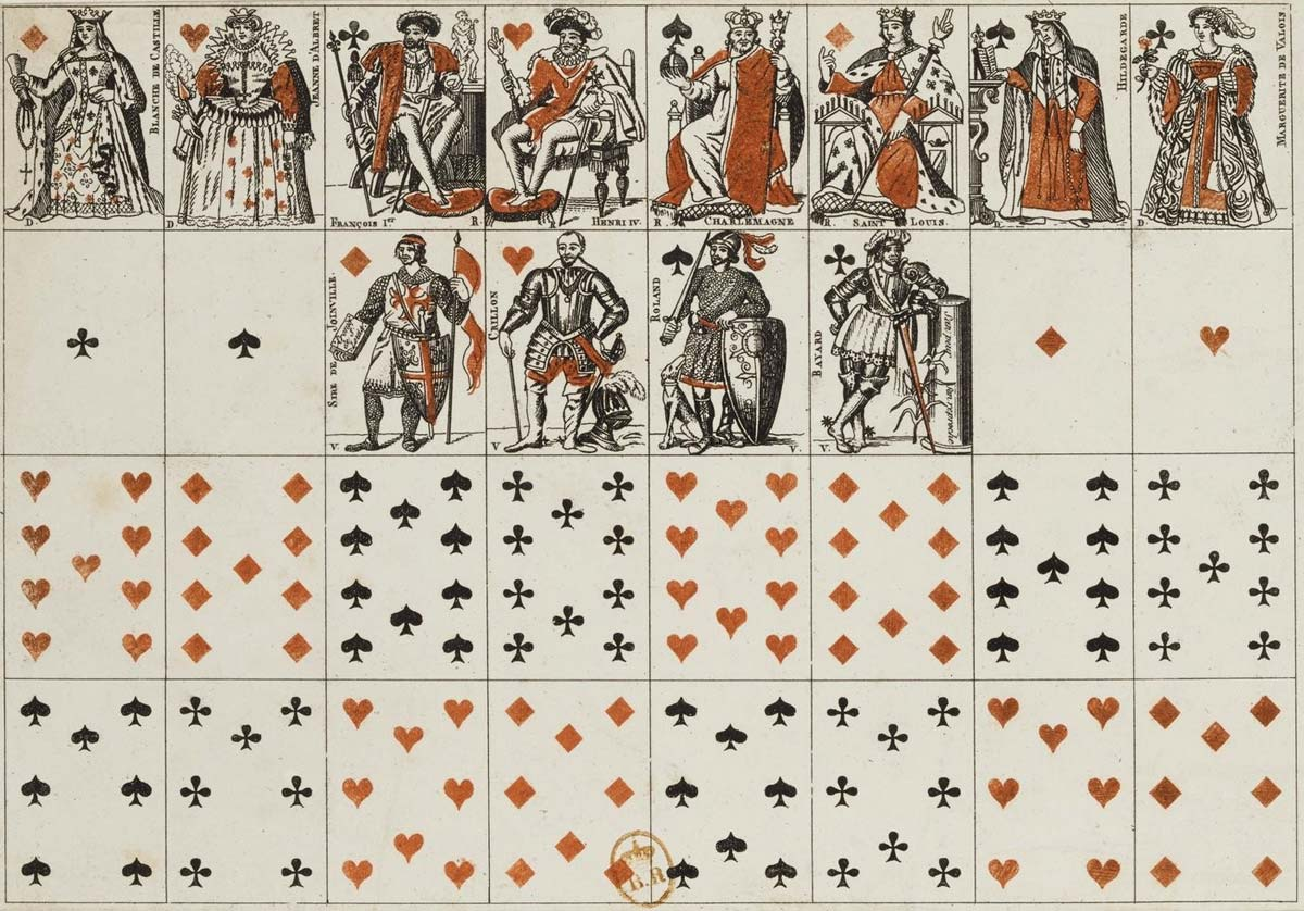miniature cards based on the designs by Armand Houbigant, 1821