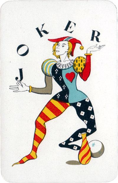 'Cartes de Luxe' with artwork by Belgian artist and designer Jean Borin (1907-1997)