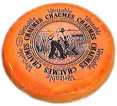 Véritable Chaumes cheese made in the French village of St Antoines