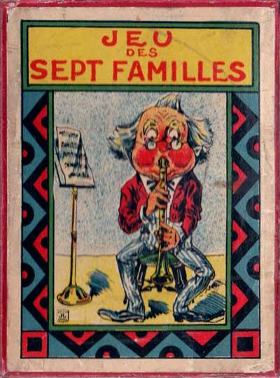 """Box from """"Jeu des 7 Familles"""" by Jeux et Jouets Français, Paris, c.1910"""