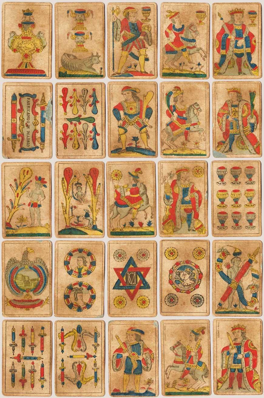 Spanish-suited Aluette cards by Lequart, Paris