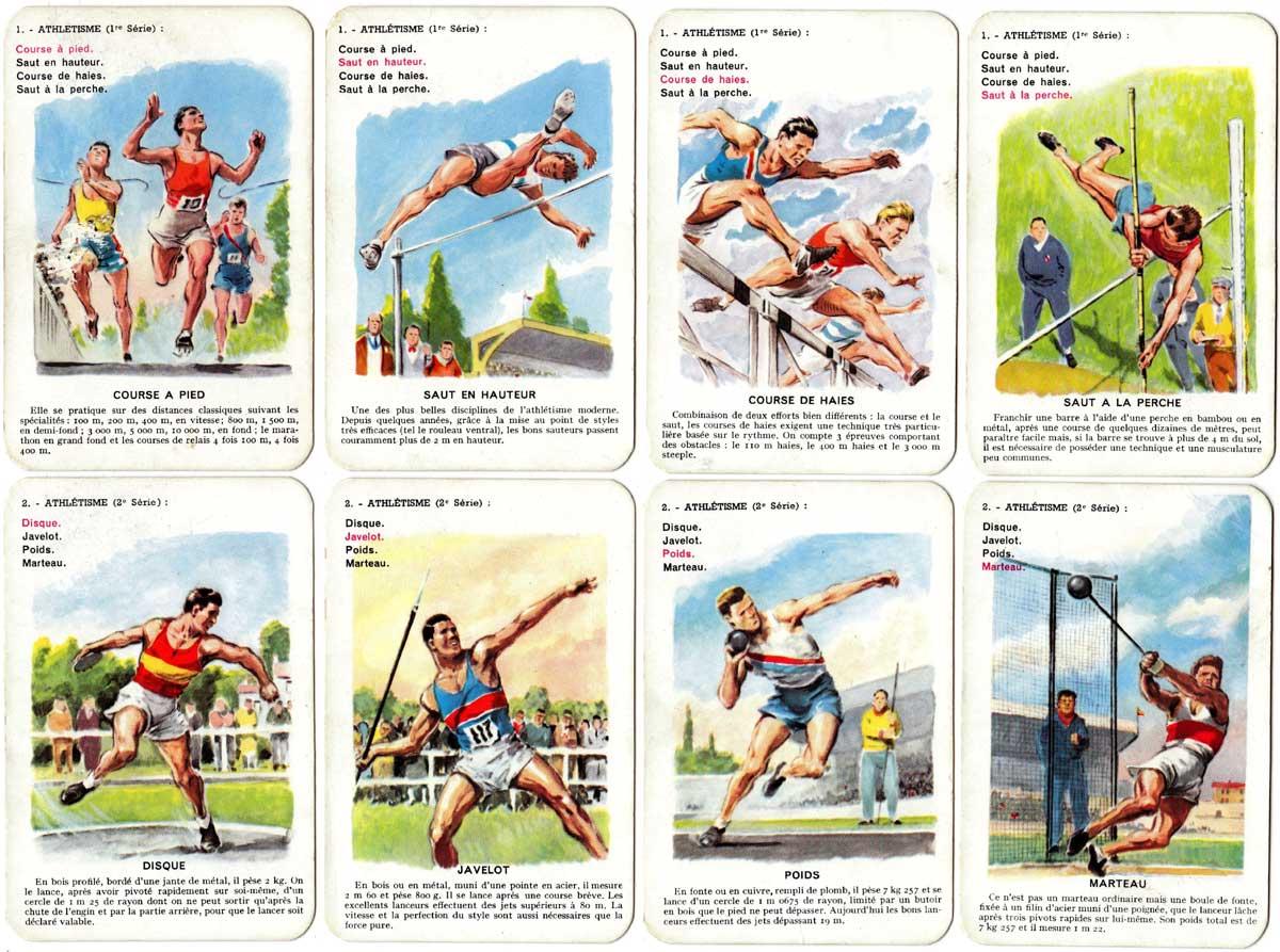 Les Sports quartet game designed by Paul Ordner, published by Fernand Nathan, c.1960