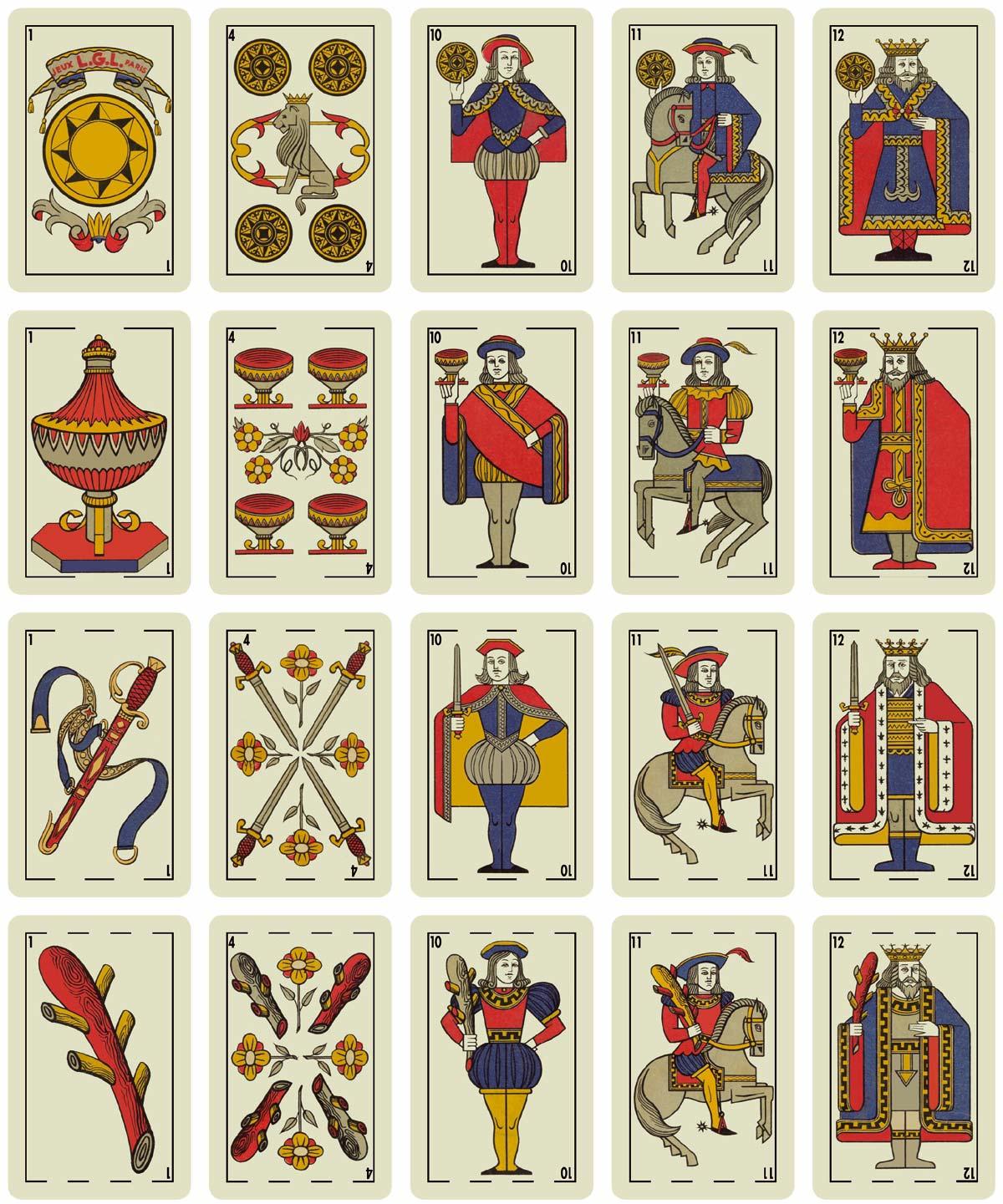 Spanish-suited pack by Jeux L.G.L. Paris