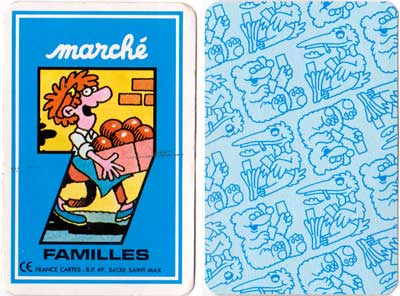 """Marché 7 Familles"" Happy Families published by France Cartes"