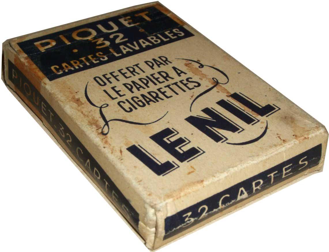 'Monic' brand Piquet deck for Le Nil Cigarette Paper (Joseph Bardou et Fils), c.1930s