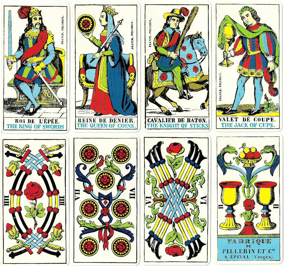"""The Epinal Tarot"", 1830. Cards from the facsimile edition published by J .M. Simon, 1979"