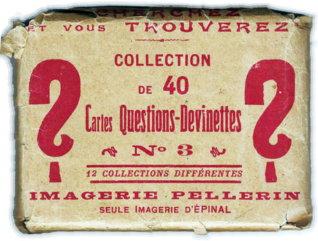 outer wrapper from Imagerie Pellerin's Cartes Questions-Devinettes