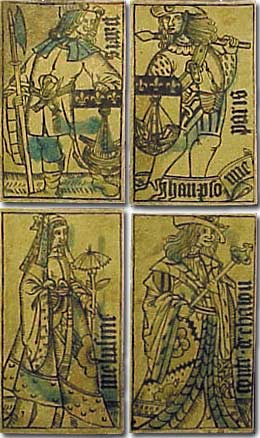 Four cards by Jean Personne, c.1495