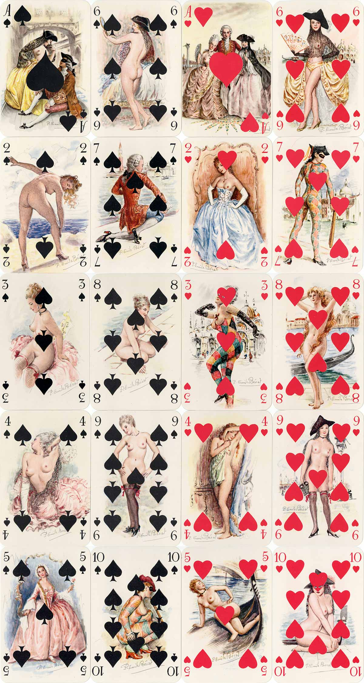 Erotic playing cards