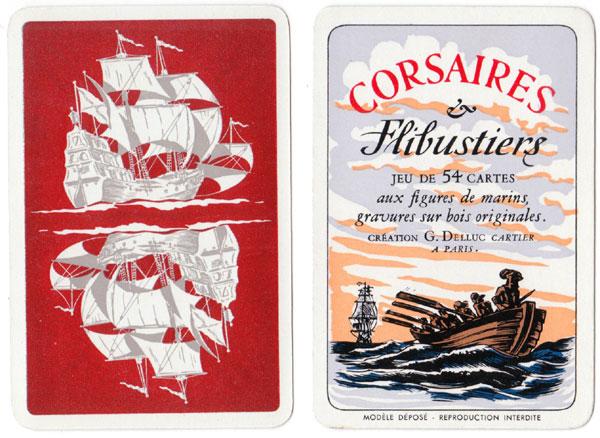 """""""Corsaires et Flibustiers"""" playing cards published by Éditions Philibert, Paris, 1958"""