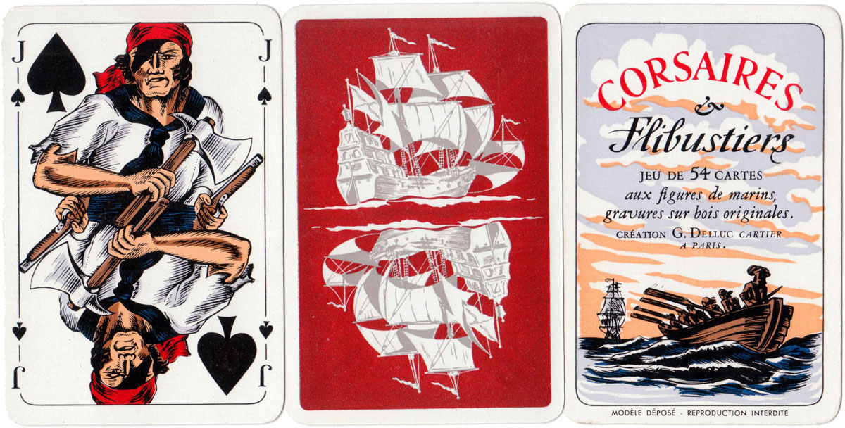 """Corsaires et Flibustiers"" playing cards published by Éditions Philibert, c.1958"