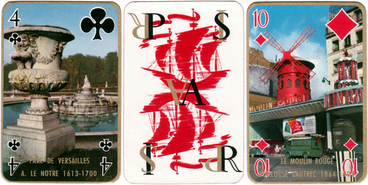 """Paris Story"" playing cards published by Éditions Philibert, c.1957"