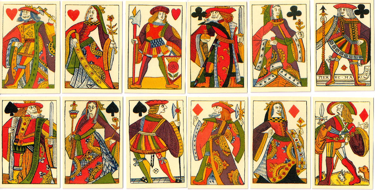 facsimile of playing cards by Pierre Marechal, Rouen c.1567, published by Rose & Pentagram Design, 2006