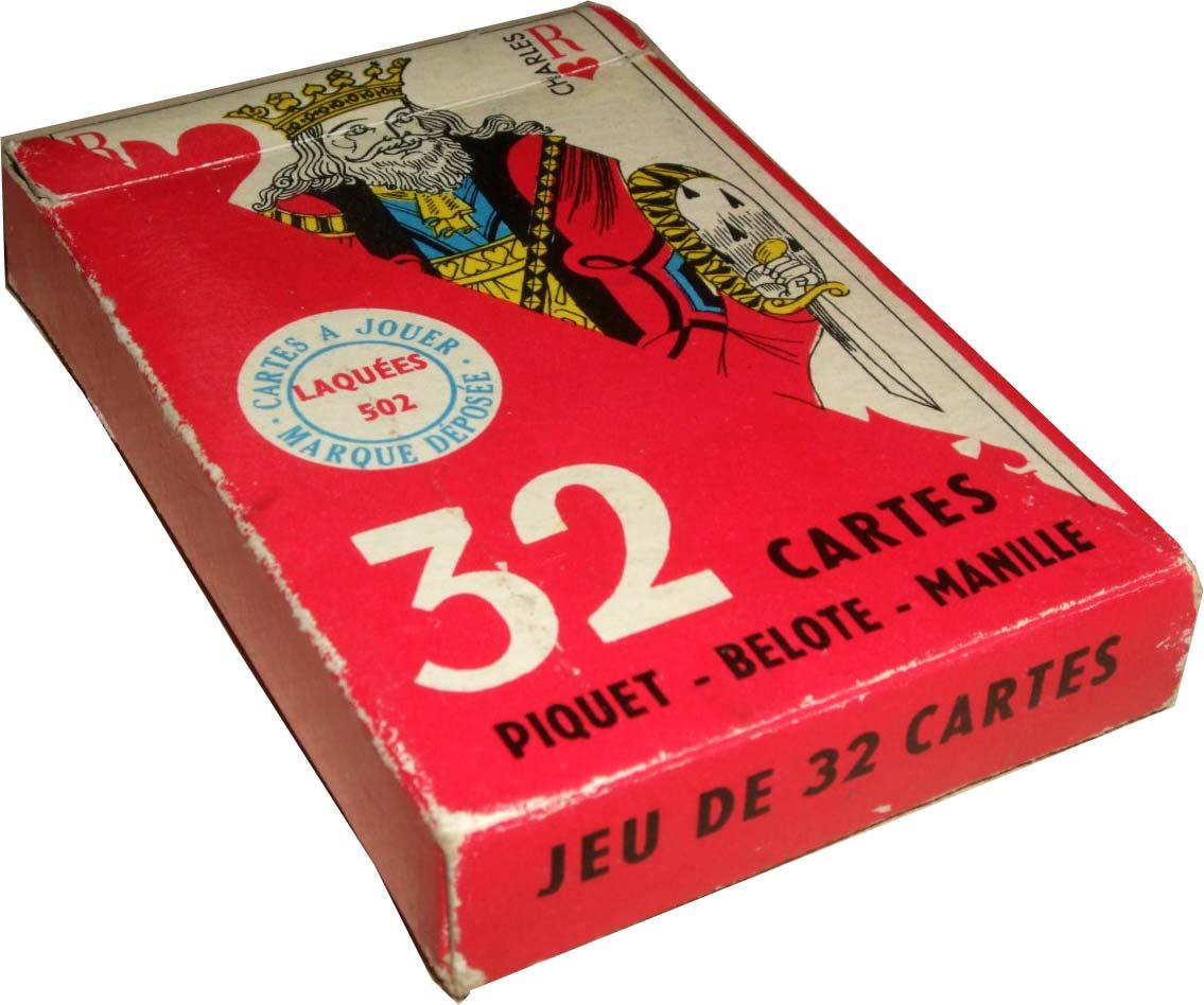 Éditions Willeb Cartes à Jouer Piquet - Belote - Manille Laquées 502