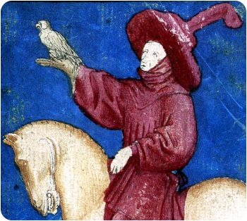 Detail from The Ambras Court Hunting pack, c.1445
