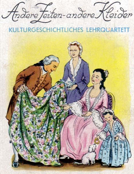 'History of fashion' cultural quartet game designed by Erika Werner-Nestler, 1954