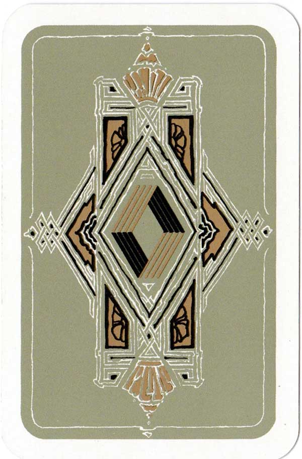 Art nouveau playing cards designed by Otto Benz for Renault, 1987