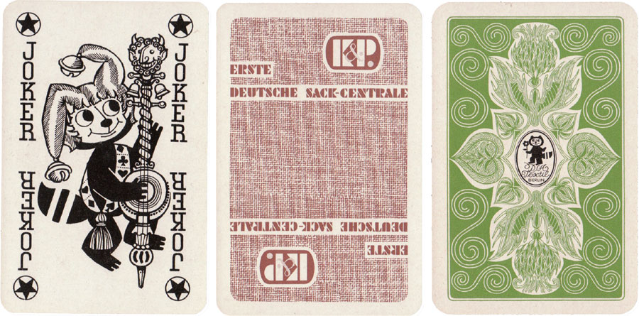 Special deck for DSA Textil Berlin manufactured by VEB Altenburger Spielkartenfabrik, c.1970