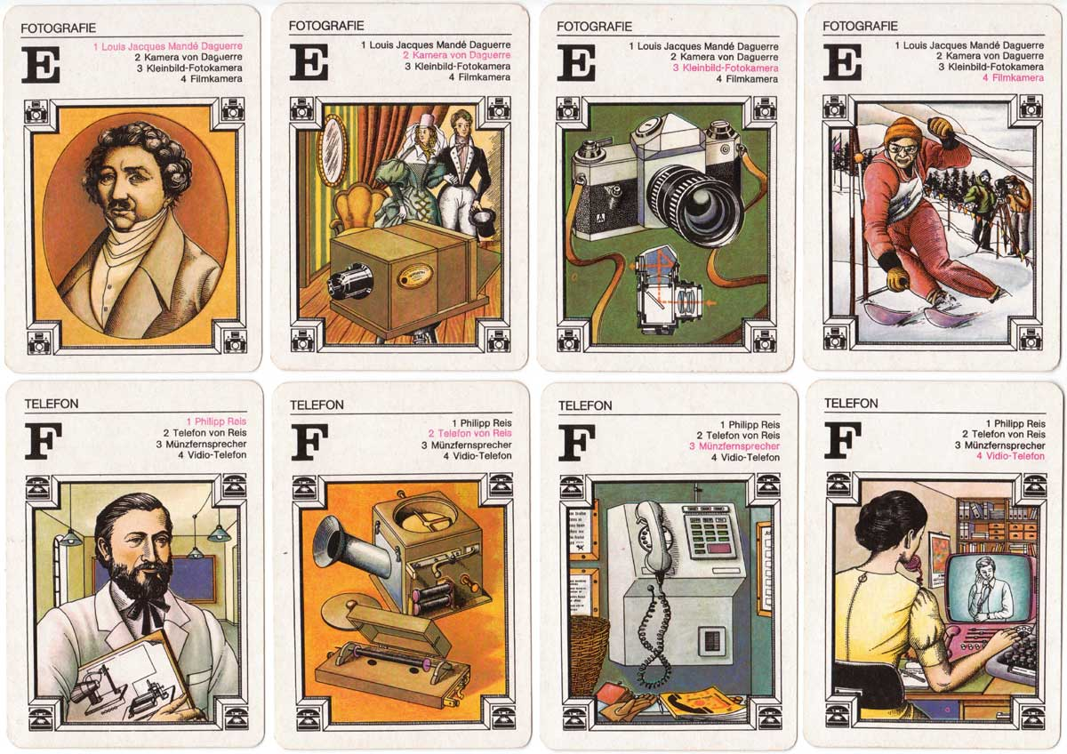 'Significant Inventions in Everyday Life' quartet published by Verlag für Lehrmittel, Pössneck, 1979