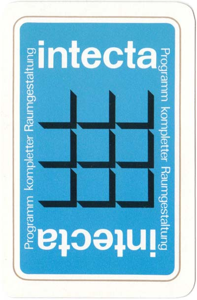 Intecta playing cards designed by Paul Reissmüller, 1982