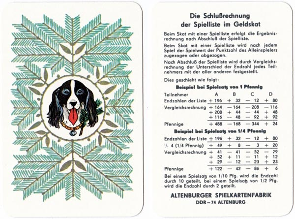 German-suited hunting themed deck made by VEB Altenburg, 1980